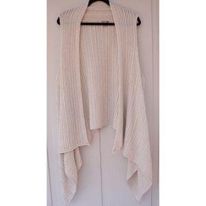 J Jill Cable Knit Wool Trapeze Vest